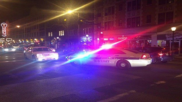 Police from multiple agencies responded to the Loop Saturday night