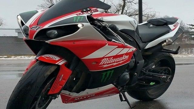 Rob Thompson's stolen motorcycle.