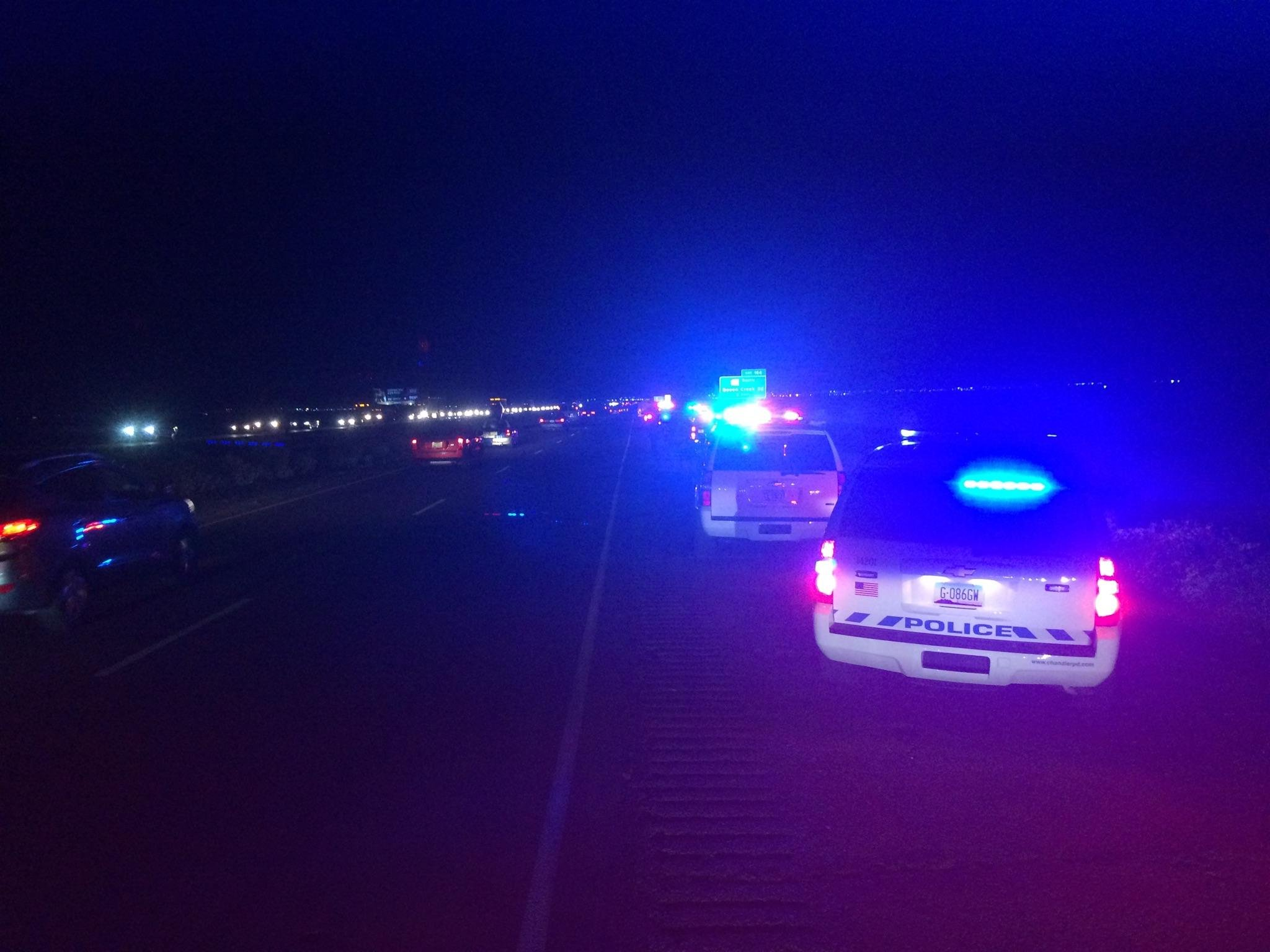 Crash at I-10 and Riggs Road on March 26, 2015.  (KPHO)