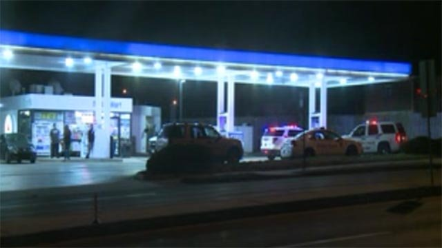 An investigation is underway after a man was assaulted and robbed at a South County gas station Sunday