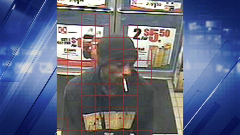 The suspect took an undisclosed amount of cash from a Chesterfield gas station Monday night.