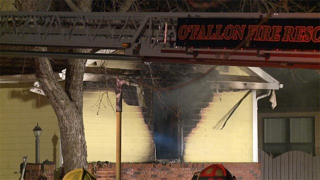 The fire occurred at a home in the 700 block of Oak Hollow Court around 12:30 a.m.