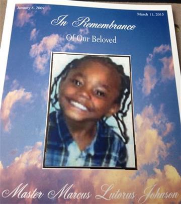 Marcus Johnson Jr.'s funeral pamphlet. (AP Images)