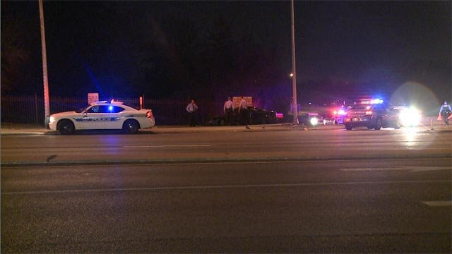 At least one person is in custody after an early morning car accident on Interstate 70.