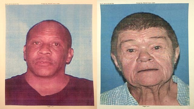 Police suspect Matthew Barnes (R) may know the whereabouts of Gail Mack Paluskas (L)