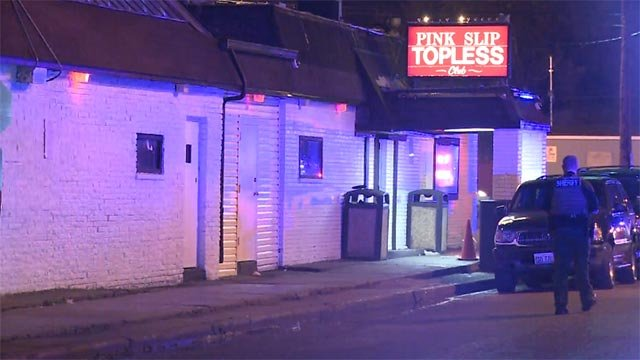 One person was taken to a hospital after an early morning shooting inside The Pink Slip in Brooklyn, Illinois.