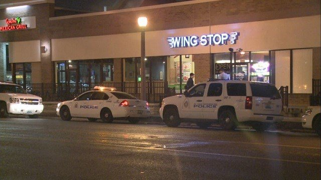 Police responded to a strong armed robbery at a Wingstop location overnight.