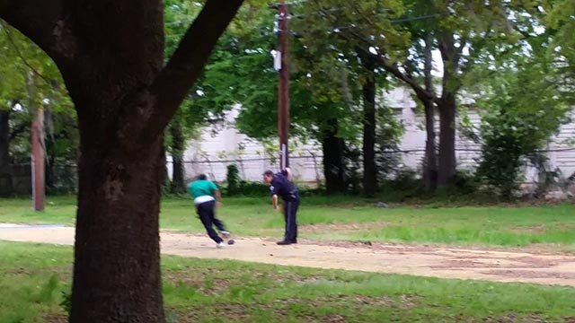 (Courtesy Scott Family) This still appears to show Walter Scott running away from Michael Slager