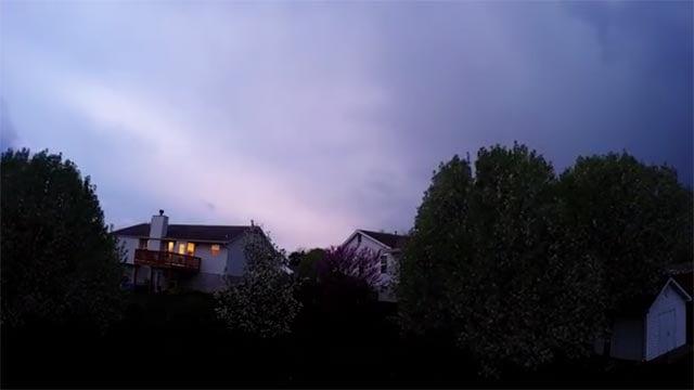 (YouTube) Elliot Stone made a time lapse of a thunderstorm over O'Fallon, Mo.
