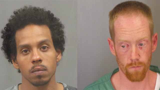 Carey Williams, 24, and Donald Michaels, 34, are charged with burglary, assault, assault on a law enforcement officer, armed criminal action, and resisting arrest. They allegedly broke into a home, shot a man, and then fired at officers during a chase