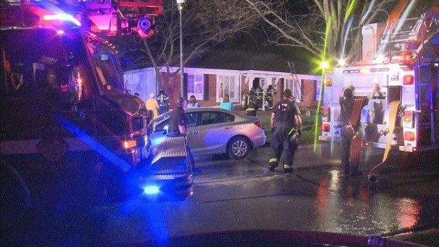 Fire crews were called to a home in the 500 block of Holshire Way Monday