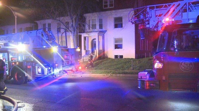 Fire crews quickly put out a fire that started in the basement of this recently vacant home.