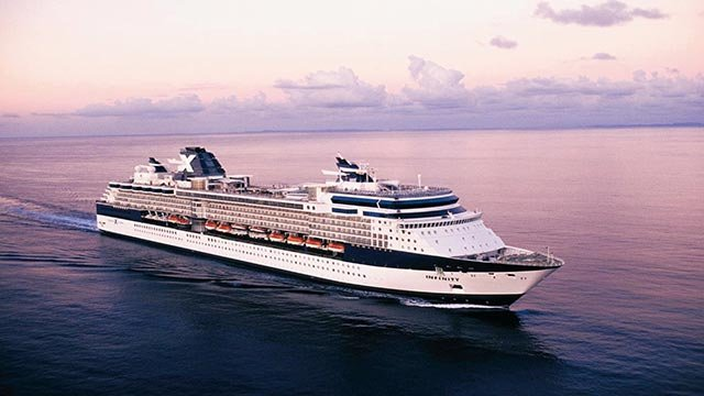 (Celebrity Cruises) 	In this provided photograph Celebrity Cruises ship Celebrity Infinity sails at dusk