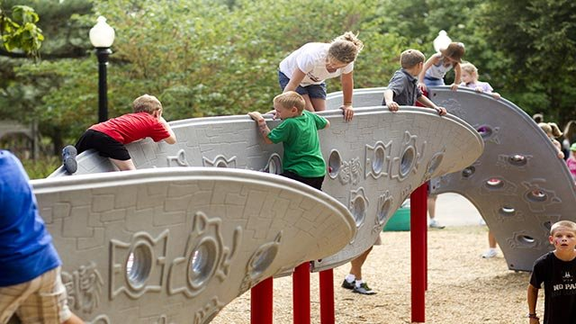 (David Holloway/CNN) A stock photograph showing children playing on a playground at the Iowa State Fair in 2012