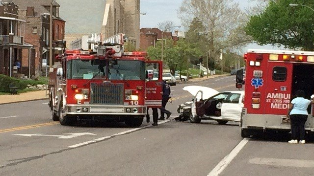 Injuries were reported after an accident on Page and Sarah Tuesday