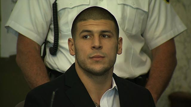 A Bristol County, Massachusetts, grand jury indicted former NFL player Aaron Hernandez on a first-degree murder charge Thursday, August 22, 2013.