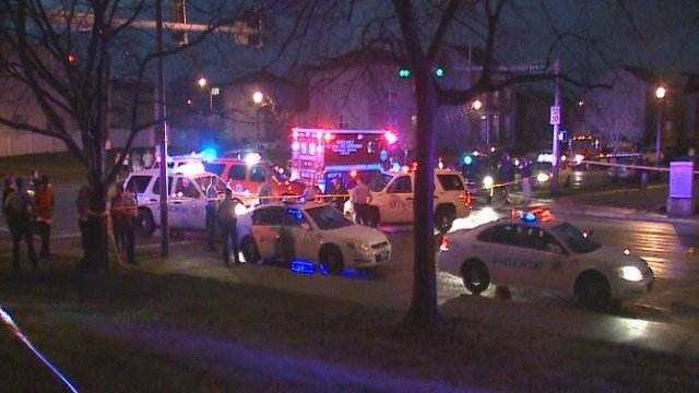 St. Louis police investigate a shooting.