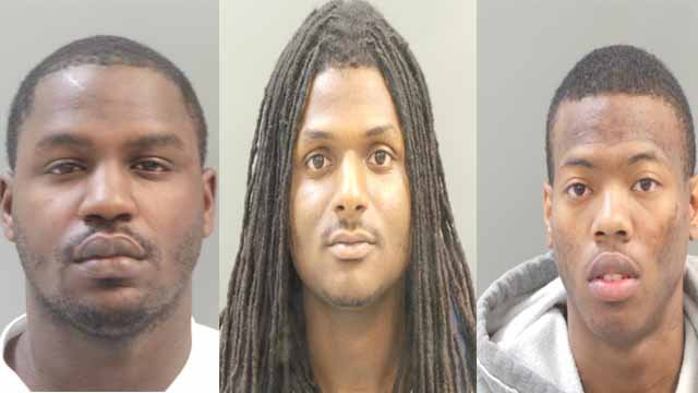 Eric and Kevon Hayes, and Aubrey Watkins are charged with resisting arrest. Authorities said they led police on chase from St. Louis County into Illinois and into downtown St. Louis