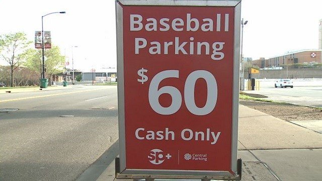 On Cardinals home opening day, lots were charging up to $60 for parking.
