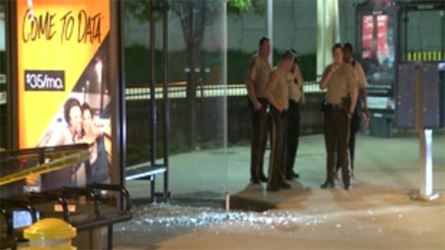 A man was shot in the leg at a Metro Station late Wednesday night.