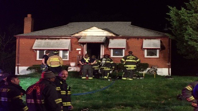 Fire crews discovered that a fire was contained to the back of a home in University City on Tuesday morning.