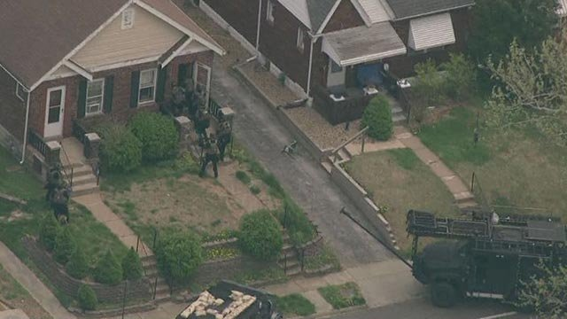Police and tactical units responded to a home on Brown Avenue around 12:30 Tuesday afternoon.