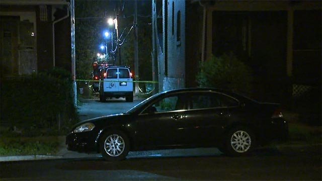 An investigation is underway after a man was found shot to death in an alley Wednesday