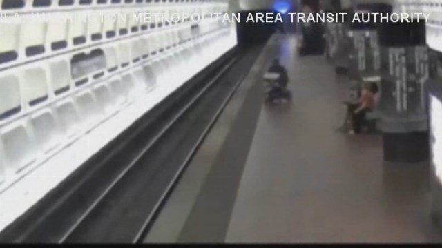 A Washington man is safe after he found himself not on a train, but on its tracks.