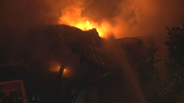 Fire crews respond to a home explosion in Venice late Thursday night.