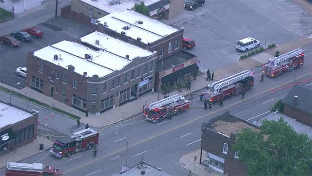 A portion of Gravois is closed after an early morning fire in South City