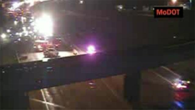 (Credit: MoDOT) A St. Peters man was fatally struck by a vehicle on I-70 Sunday night.