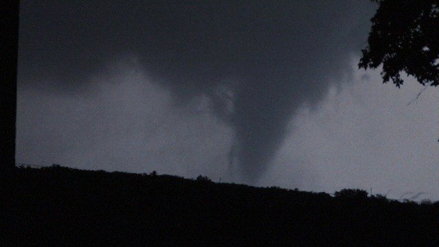 A huge tornado left softball sized hail in Texas.