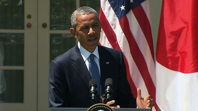 (Credit: Pool) President Barack Obama on Tuesday, April 28, 2015 condemned the violent outbreaks in Baltimore,