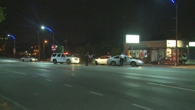 A man was hit by a Metro bus Tuesday night in a south St. Louis neighborhood.