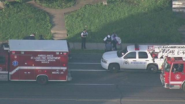 Skyzoom 4 was over the scene and saw police carrying a person out of the home