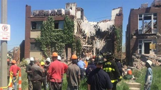 (St. Louis Fire Department) A building in Midtown collapsed Friday morning