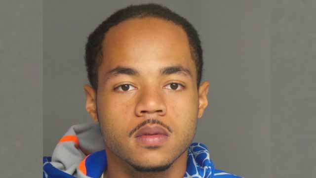 Police are searching for Aaron Umstead after they say he and another person held a man at gunpoint and robbed him.