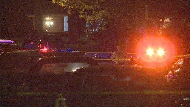 Detectives investigate a scene in Unincorporated North County where a man was shot.