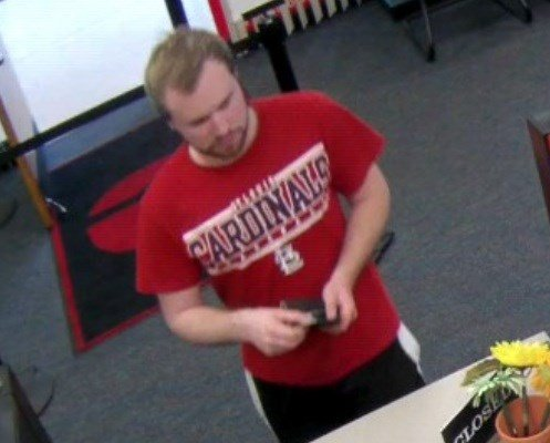 Photograph of Taylor Clark taken at approximately 10:08 a.m. on the date of his disappearance.  This image was captured at SIUE and accurately reflects what he was last known to be wearing, police say.