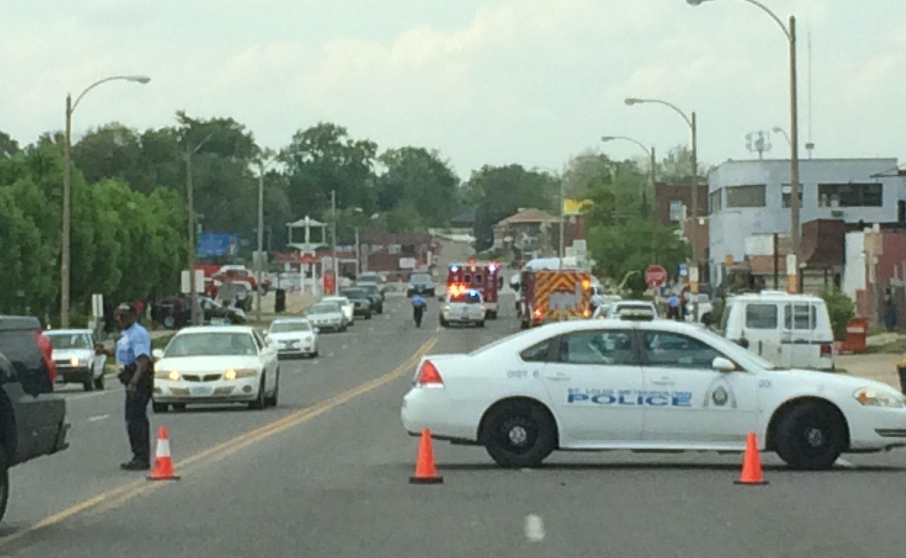 Shooting scene in the 6000 block of Natural Bridge in St. Louis