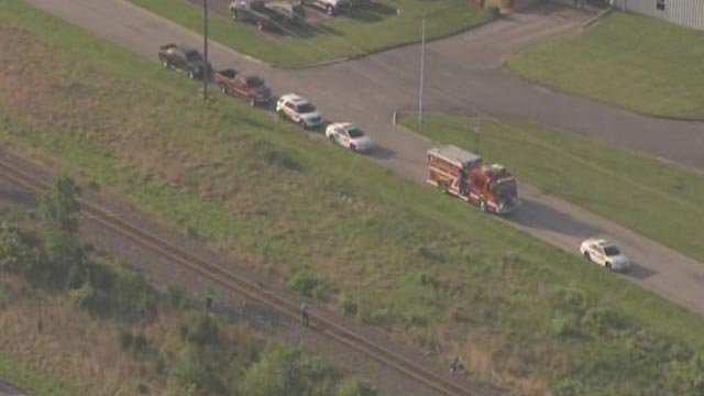 The unidentified person was struck on the railroad tracks near Cooperative Way before 7 a.m.