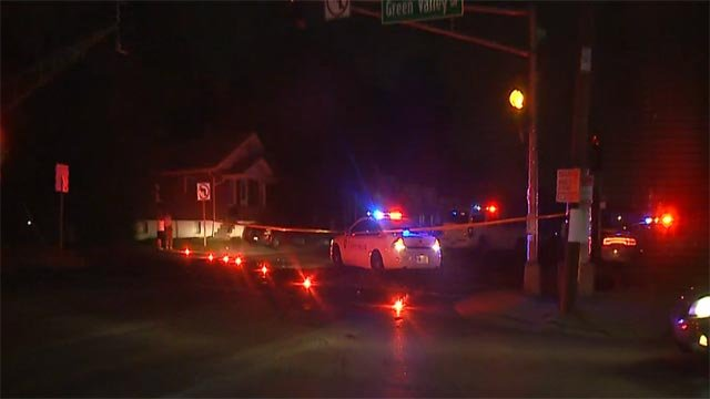 A pedestrian was struck and killed during a hit-and-run accident at Chambers and Green Valley