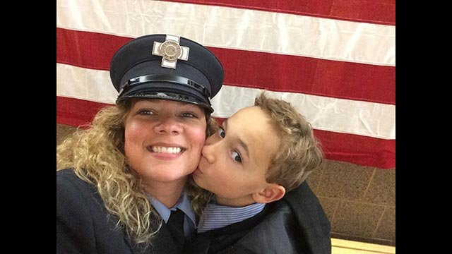 "(Credit: Stephanie Crayton/CNN iReport) ""I am a 42-year-old divorced mother with custody of my son. My proudest moment was being able to have my son pin my badge on my uniform during the badge ceremony for the city."""