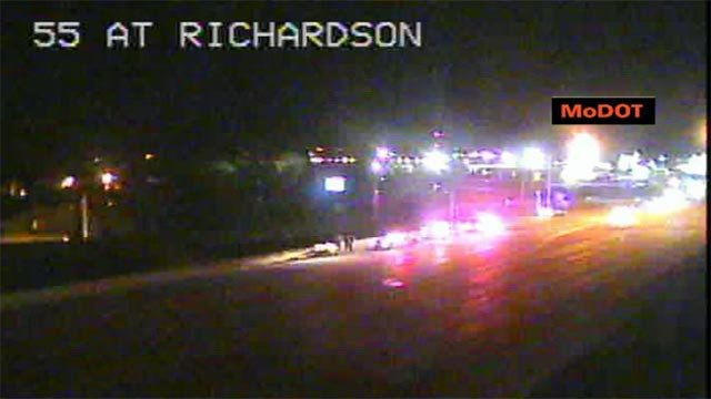 (Credit: MoDOT) A pedestrian was struck on I-55 near the Richardson Road exit overnight