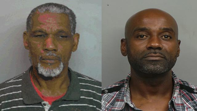 Millard S. Carpenter, 51, and Marvin L. Young, 56, allegedly took $3,000 of rims and tires off a vehicle at a Metro East car dealer