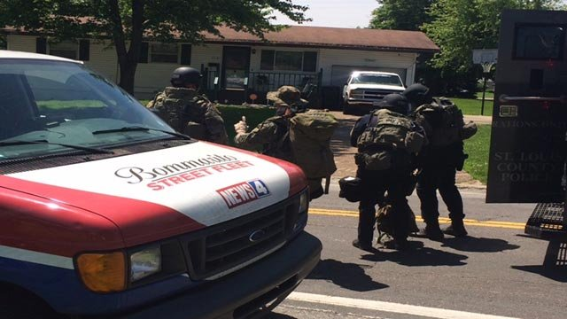 A standoff ensued after deputies went to serve a warrant in North County Wednesday