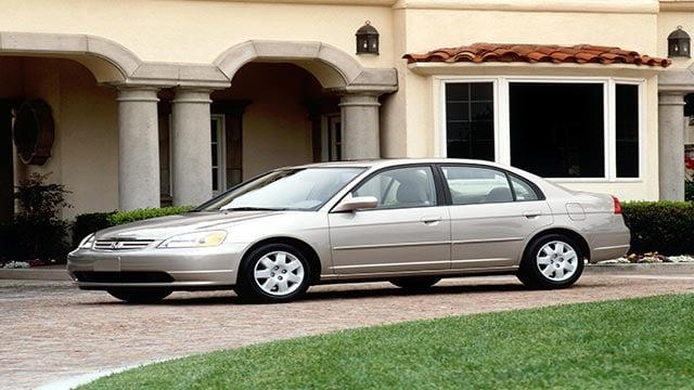(Credit: Honda) A publicity photograph of the 2002 Honda Civic.