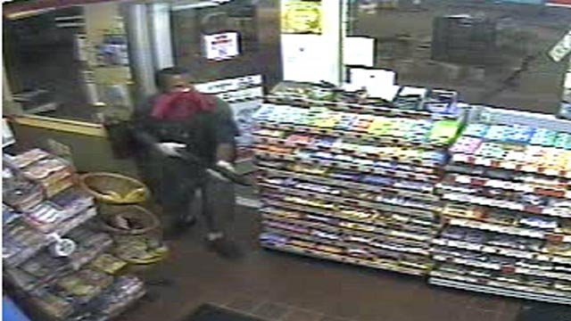 St. Louis police are searching for two robbery suspects.