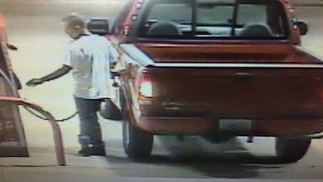 Pevely police are searching for this man in connection to the use of a counterfeit bill at a gas station.