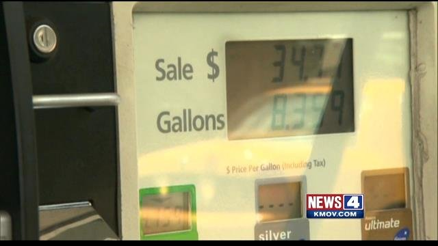 Gas prices in Missouri and Illinois are virtually the same. (Credit: KMOV)